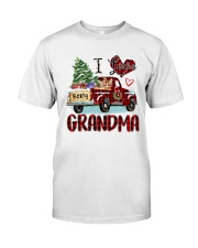 I love being a grandma truck red xmas Classic T-Shirt front