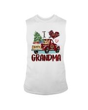 I love being a grandma truck red xmas Sleeveless Tee tile