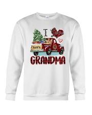 I love being a grandma truck red xmas Crewneck Sweatshirt tile
