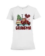 I love being a grandma truck red xmas Premium Fit Ladies Tee tile