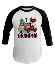 I love being a grandma truck red xmas Baseball Tee tile