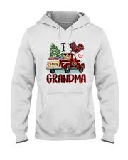 I love being a grandma truck red xmas Hooded Sweatshirt tile