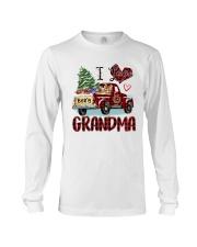 I love being a grandma truck red xmas Long Sleeve Tee tile