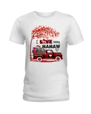 I love being mamaw gift Ladies T-Shirt tile