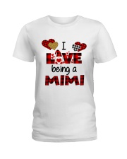 I Love Being A mimi Gnomie gift Ladies T-Shirt tile