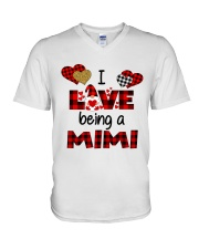 I Love Being A mimi Gnomie gift V-Neck T-Shirt tile
