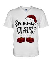Grammy Claus christmas 2020 V-Neck T-Shirt tile
