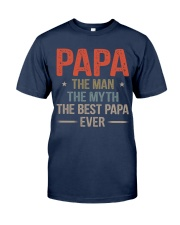 Papa the best Classic T-Shirt front