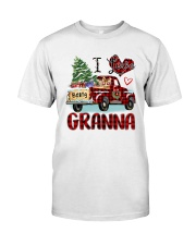 I love being a Granna truck red xmas Classic T-Shirt front