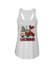 I love being a Granna truck red xmas Ladies Flowy Tank tile