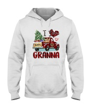 I love being a Granna truck red xmas Hooded Sweatshirt tile