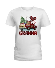 I love being a Granna truck red xmas Ladies T-Shirt tile
