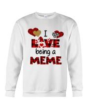 I Love Being A meme Gnomie gift Crewneck Sweatshirt tile
