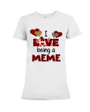 I Love Being A meme Gnomie gift Premium Fit Ladies Tee tile