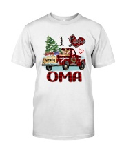 I love being a Oma truck red xmas Classic T-Shirt front
