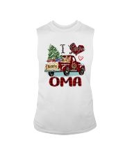 I love being a Oma truck red xmas Sleeveless Tee tile