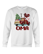 I love being a Oma truck red xmas Crewneck Sweatshirt tile