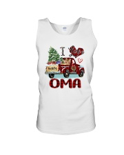 I love being a Oma truck red xmas Unisex Tank tile