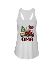 I love being a Oma truck red xmas Ladies Flowy Tank tile