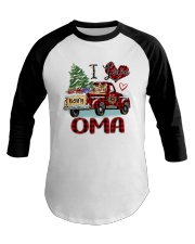 I love being a Oma truck red xmas Baseball Tee tile
