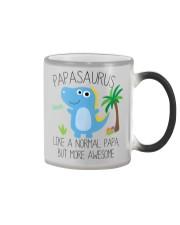 Papa saurus mug Color Changing Mug tile