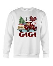 I love being a gigi truck red xmas Crewneck Sweatshirt tile