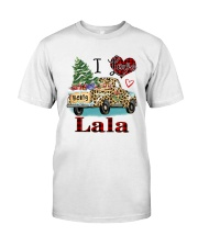 I love being a lala truck leopard xmas Classic T-Shirt front