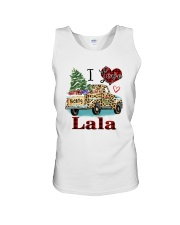I love being a lala truck leopard xmas Unisex Tank tile