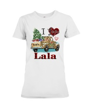 I love being a lala truck leopard xmas Premium Fit Ladies Tee tile