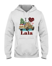 I love being a lala truck leopard xmas Hooded Sweatshirt tile