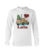 I love being a lala truck leopard xmas Long Sleeve Tee tile