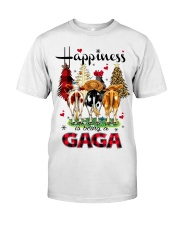 Happiness is being a gaga cow christmas Classic T-Shirt front