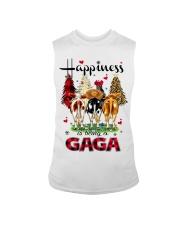 Happiness is being a gaga cow christmas Sleeveless Tee tile