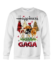 Happiness is being a gaga cow christmas Crewneck Sweatshirt tile