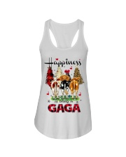 Happiness is being a gaga cow christmas Ladies Flowy Tank tile