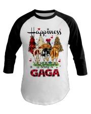 Happiness is being a gaga cow christmas Baseball Tee tile