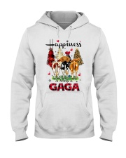 Happiness is being a gaga cow christmas Hooded Sweatshirt tile