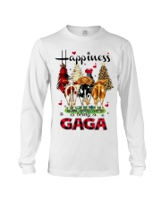 Happiness is being a gaga cow christmas Long Sleeve Tee tile