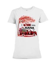 I love being nana gift Premium Fit Ladies Tee tile