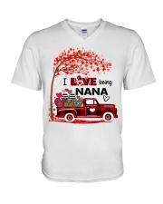 I love being nana gift V-Neck T-Shirt tile