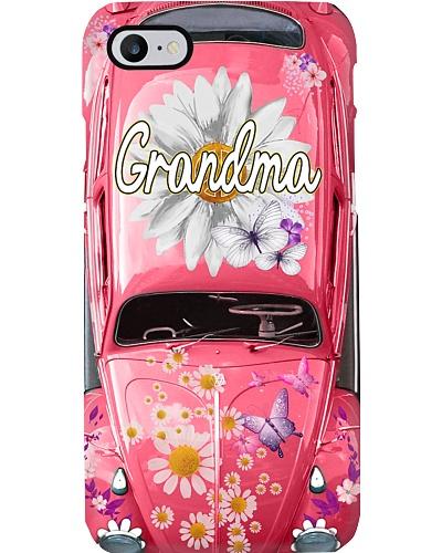 Grandma daisy hippie phone case v1