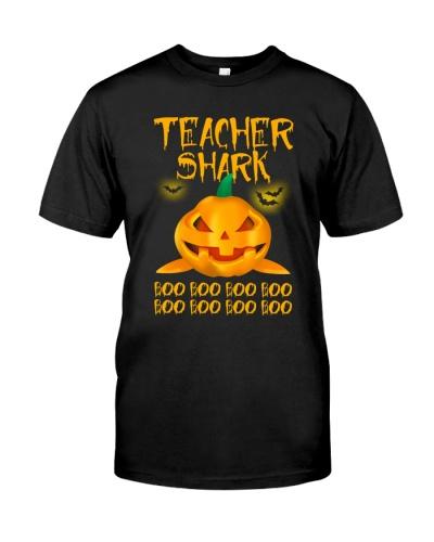 Teacher shark pumpkin