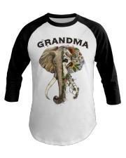 Grandma elephants Baseball Tee tile