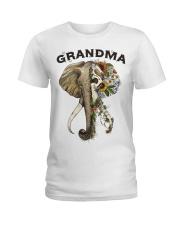 Grandma elephants Ladies T-Shirt tile