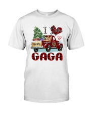 I love being a Gaga truck red xmas Classic T-Shirt front