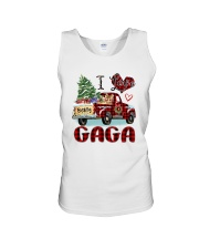 I love being a Gaga truck red xmas Unisex Tank tile