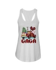 I love being a Gaga truck red xmas Ladies Flowy Tank tile