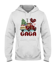I love being a Gaga truck red xmas Hooded Sweatshirt tile
