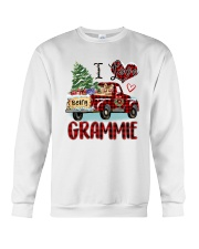 I love being a Grammie truck red xmas Crewneck Sweatshirt tile