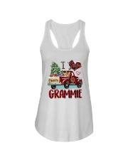 I love being a Grammie truck red xmas Ladies Flowy Tank tile
